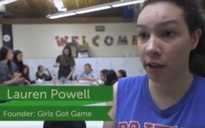 CLICK Video – Girls Got Game Program – Lauren Powell